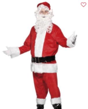 En flot klassisk julemandsdragt
