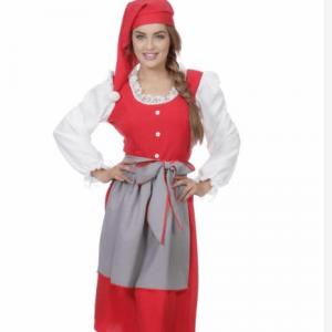 Klassisk nissepige kostume til julefesten