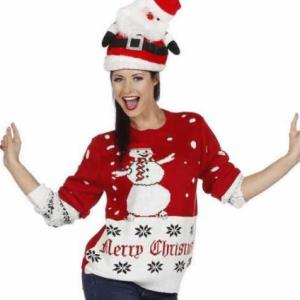 Flot juletrøje med snemand på maven