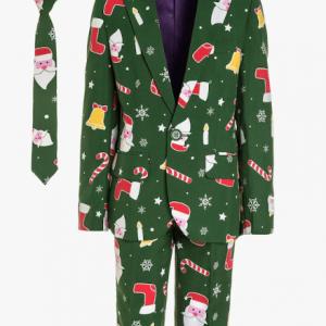 Grønt Santa Boss jule jakkesæt