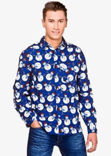 Køn din Snemand juleskjorte her
