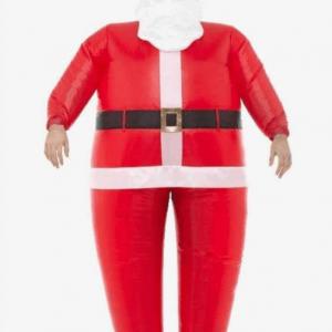 Køb oppustelig julemandskostume