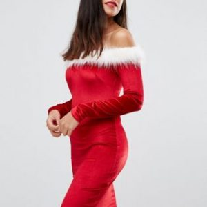 julekjole rød sexet