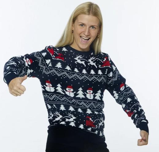 Den stilede julesweater dame