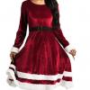 Rød Mrs Santa Claus julekjole