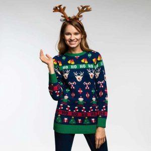 Grim julesweater dame