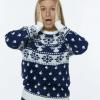 Klassisk blå julesweater til kvinder