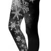 Mørke jule leggings prydet med snefnug