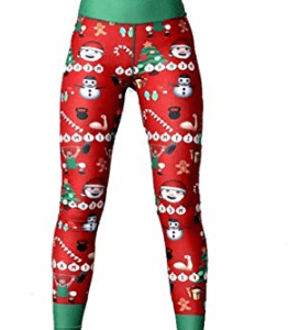 Yoga juleleggings