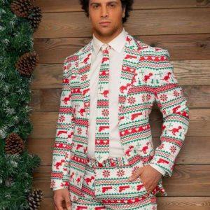 jule jakkesæt i lyse farver med jule og gangster motiv