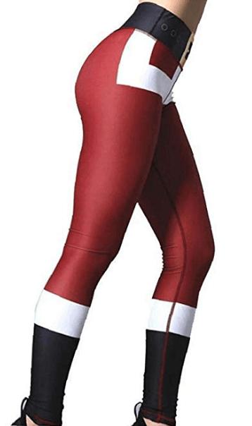 jule leggings i rød