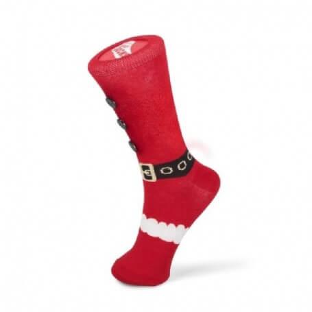 jule strømper med julemandskostume motiv