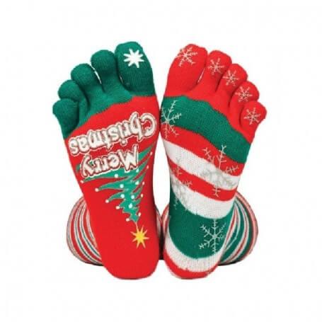 julestrømper med julemotiv på julemands-kostumer.dk