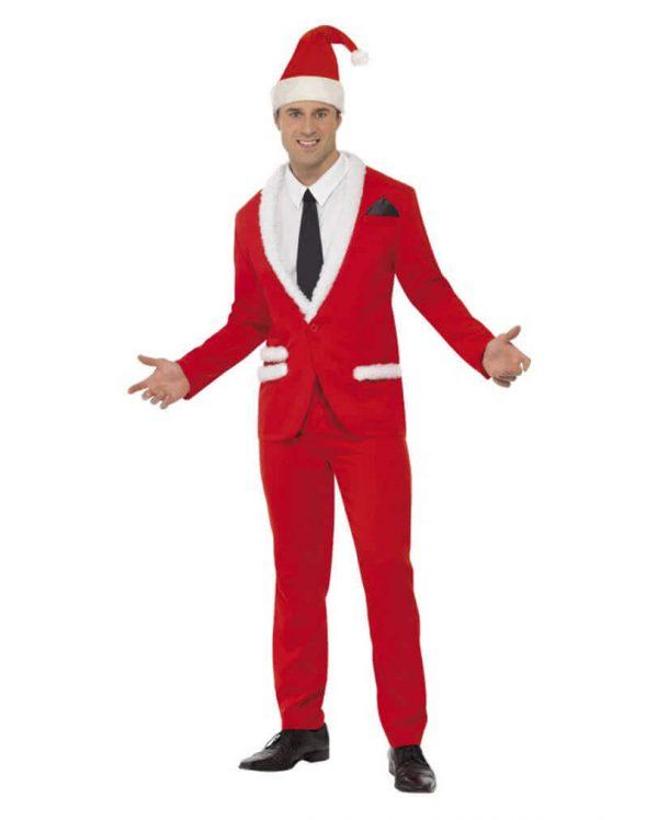 jule jakkesæt rødt på julemands-kostumer.dk