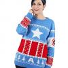 Blå Marvel julesweater dame