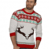 Hvid unisex julesweater