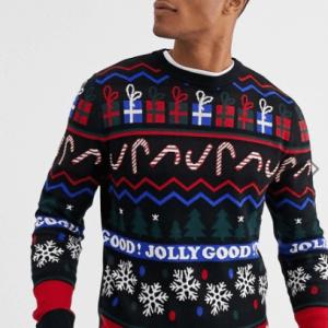 Jack & Jones - Originals - Sort juletrøje