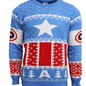 Official Marvel Captain America Christmas Jumper