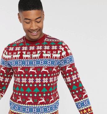 ASOS DESIGN - Tall - Juletrøje med llamadesign