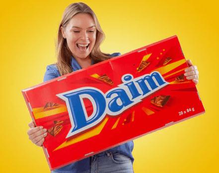 Gigantisk chokolade Daim