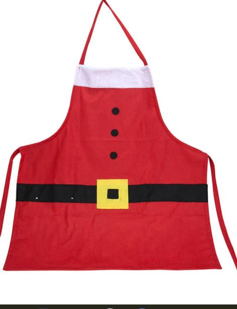 Flot rødt juleforklæde