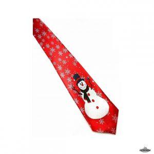 Juleslips rød med snemand