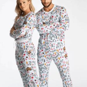 Hvid og blød julepyjamas