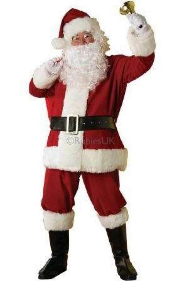 julemands kostume, julemandsdragt, julemandskostume luksus