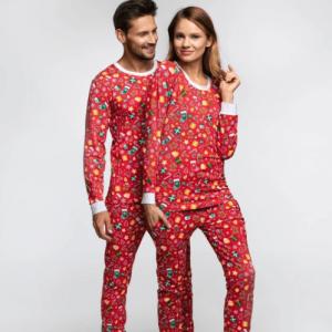Rød julepyjamas unisex
