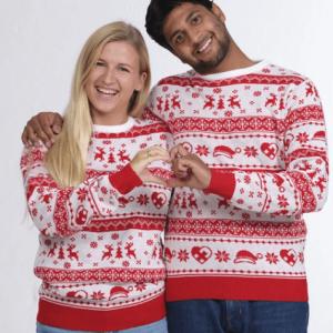 Flot rød unisex julesweater