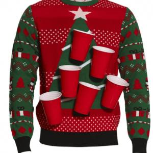 Beerpong julesweater
