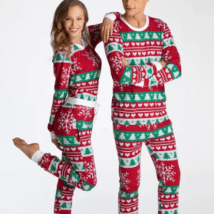 Juleferie pyjamas i rød farve